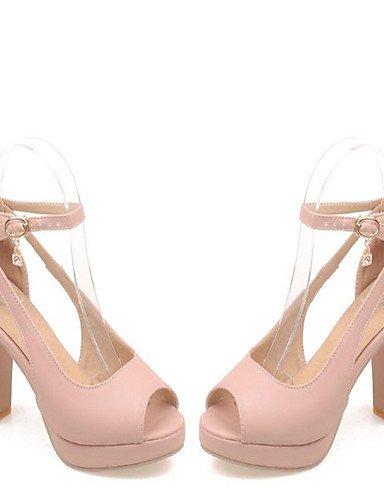 LFNLYX Zapatos de mujer-Tacón Robusto-Tacones / Comfort / Innovador / Botas a la Moda / Zapatos y Bolsos a Juego / Zapatillas-Sandalias / Pink