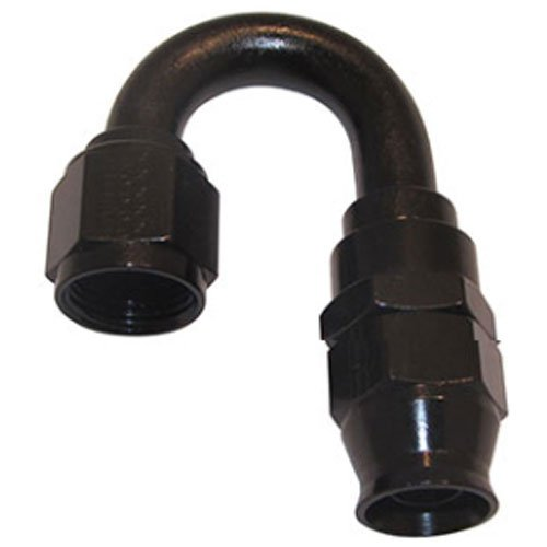 Real Street Performance (Fragola Performance Systems 681806-BL Real-Street Hose End 180-Degree -6 AN Blac)