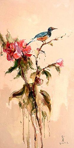 Oil Painting 'Chinese Bird And Flower Painting', 10 x 20 inch / 25 x 51 cm , on High Definition HD canvas prints is for Gifts And Bed Room, Home Theater And Kitchen Decoration, for sale (For Mantle Headboards Sale)