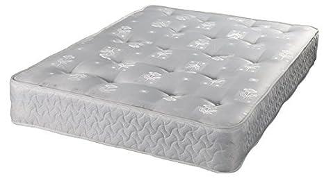 Zoe 1000 tela de damasco acolchado colchón borde - diseño de flores - 4 ft6 doble: Amazon.es: Hogar
