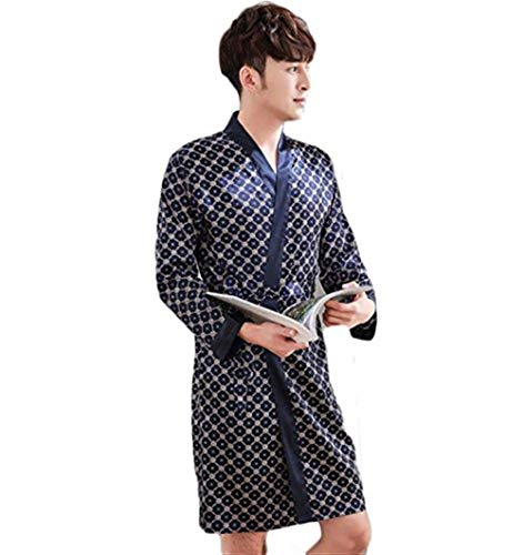 Saoye D Uomo Blue2 Abito Loungewear Accappatoio Fashion Leggero Accogliente rxZCrgv