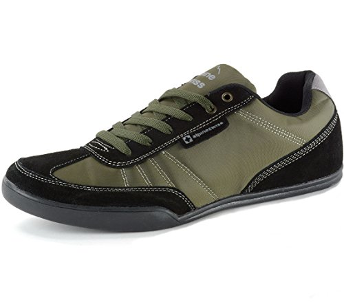 alpine swiss Marco Marco Men's Suede Trim Retro Fashion Tennis Shoes, Olive, 9