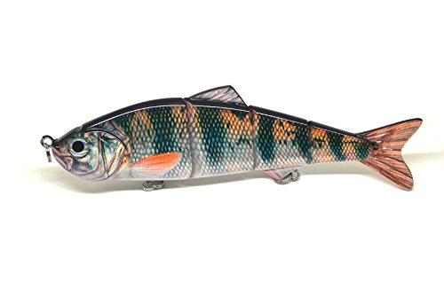 8 Multi Jointed Swimbait Fishing Lures Bait Baits Life-like Lure Minnow Bass Pike Musky NEW (E)