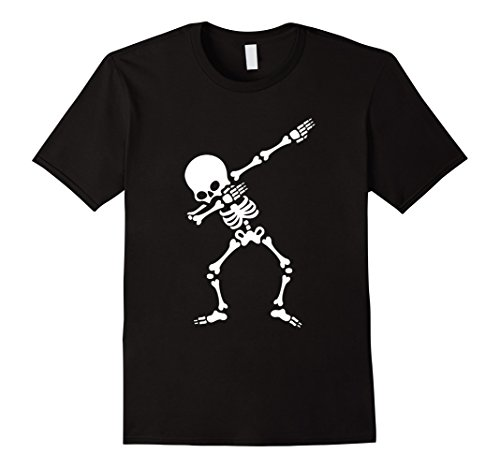 Funny Dabbing Skeleton T  Shirt Dab Hip Hop Cool Dance Tshir