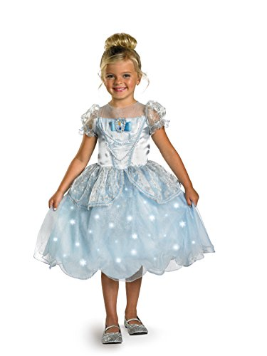 Disney Princess Cinderella Light Up Deluxe Costume, Blue, X-Small