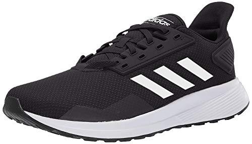 adidas Men's Duramo 9 Running Shoe, Black/White, 12 M US