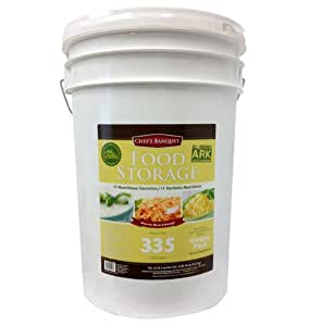 Chef's Banquet ARK Emergency Food Storage: 335 servings dehydrated food, sealed mylar pouches with oxygen absorbers-essential for grab and go kits, camping & outdoor food. Best long term disaster survival preparedness rations for peace of mind