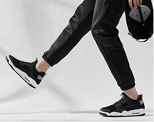 Scarpe da Ginnastica Uomo Donna Running Sportive Basket Basse Sneakers , Bianco , EU43/UK9.5