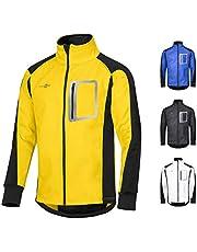 CYCLEHERO Winddichte Fahrradjacke Männer (unterschiedliche Größen & Farben) Wasserdichte Softshell Jacke für Herren beim Fahrrad fahren – Laufjacke fürs Joggen mit großen Reflektoren - Slim-Fit Regenjacke