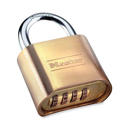 Master Lock 175D Combination Padlock, 4 Digit Dialing, Resettable, (175d Resettable Combination Padlock)