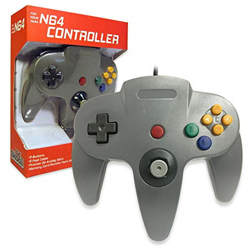 Old Skool Classic Wired Controller Joystick for Nintendo 64 N64 Game System - Grey (Old Nintendo 64 Games)