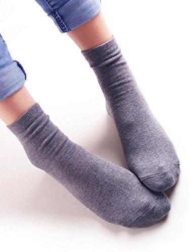 VERO MONTE 4 Pairs Womens Winter Warm Socks Thermal Winter Fleece lined Crew Socks