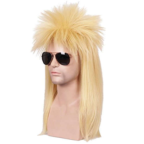 ColorGround 80S Long Straight Blond Party Cosplay Wig -