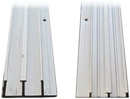 Pista de aluminio para puerta corredera de 0.63 cm x 10,16 cm.: Amazon.es: Bricolaje y herramientas
