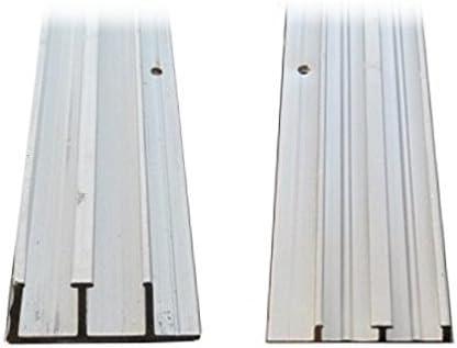Pista de aluminio para puerta corredera de 0.63 cm x 10,16 cm ...
