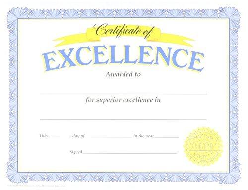 Trend Enterprises Certificate of Excellence, 30/Pkg (T-11301), Model: T-11301, Office Shop