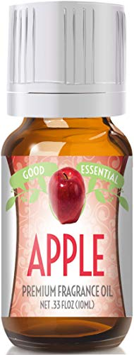 Apple Scented Oil by Good Essential (Premium Grade Fragrance Oil) - Perfect for Aromatherapy, Soaps, Candles, Slime, Lotions, and More! ()