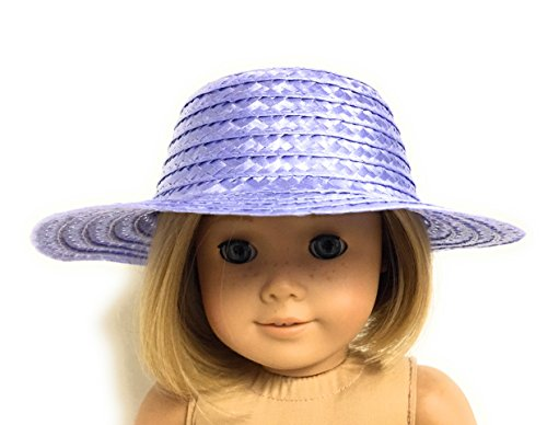 - Lavender Straw Hat fits 18 inch American Girl Doll Clothes