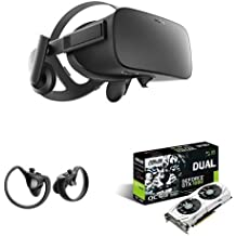 ASUS GeForce 6GB Dual-Fan  VR Ready Dual HDMI DP 1.4 Gaming Graphics Card DUAL-GTX1060-O6G  & Oculus Rift + Touch Virtual Reality Bundle
