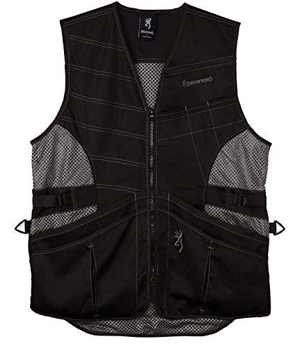 Browning Ace Shooting Vest-Black/Black (Large)