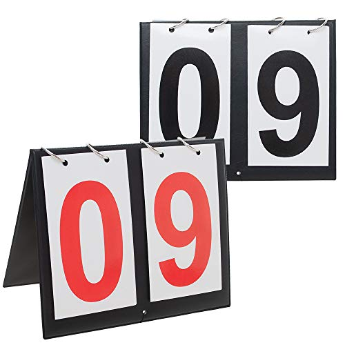 GOGO 2 Sets Portable Table Top Sports Scoreboards, 00-99-Red + Black ()