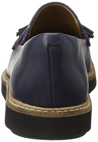 Clarks Glick Castine, Mocasines para Mujer Azul (Navy Leather)