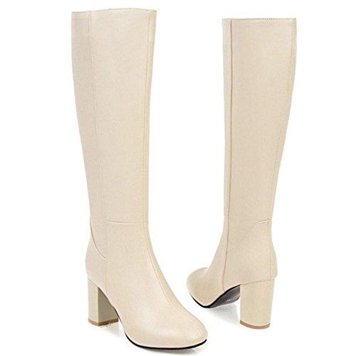 Boots Women Beige CularAcci High Long Heel Fashion wOHdOX