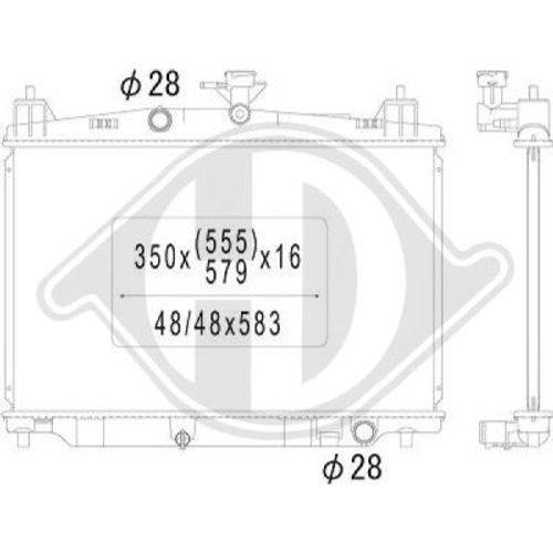 Diederichs DCM2267 Radiator, radiator: