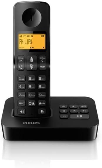 Philips D2051B/23 - Teléfono fijo digital (Llamada en espera, manos libres, micrófono mudo), negro: Amazon.es: Electrónica