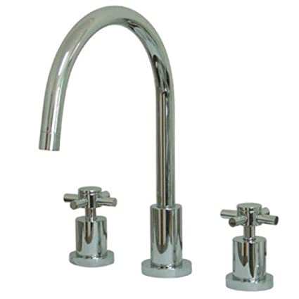 Brushed Nickel Kingston Brass KS8728DXLS Concord Widespread Kitchen Faucet Less Sprayer