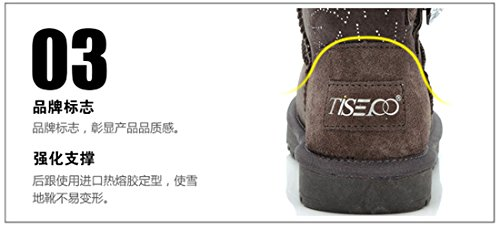 Women's Soil Wool Sheepskin Lined K3K yellow Shoes Hot Winter Boot New Snow Fur Warm xRIRqBwt7