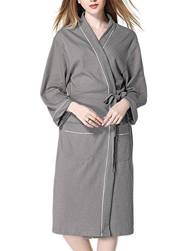 Imocrico 욕조 위에 살짝 걸쳐 입을 가운 남녀 겸용 가운 와플 원단 깔끔한 호텔 스파 사우나