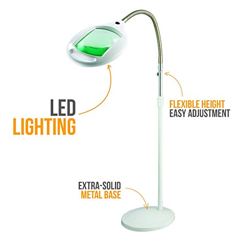 Brightech LightView Pro LED Magnifying Floor Lamp