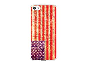 Cellet White Proguard with Vintage US Flag for Apple iPhone 5c