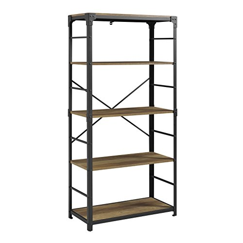 WE Furniture AZS64AIRO Mixed Material Bookshelf, 64