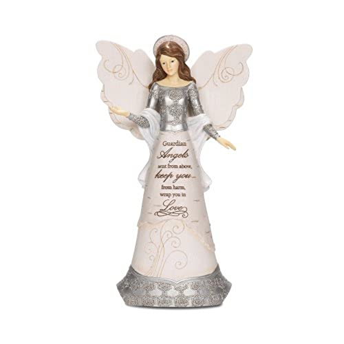elements 82310 guardian angel collectible figurine angel with halo 9 inch