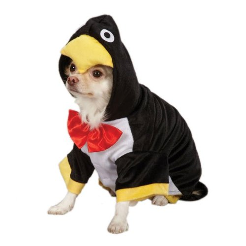 Zack & Zoey Penguin Pup Costume, X-Small, Black -