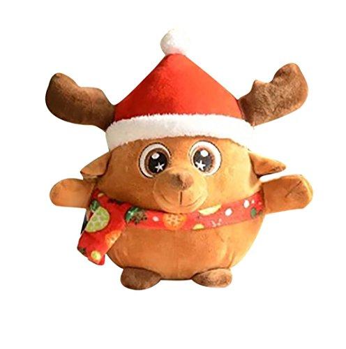 Boyiya Plush Toys, Music Flash Father Christmas Plush Toys Christmas Decorations Gift (Old Market Halloween 2017)