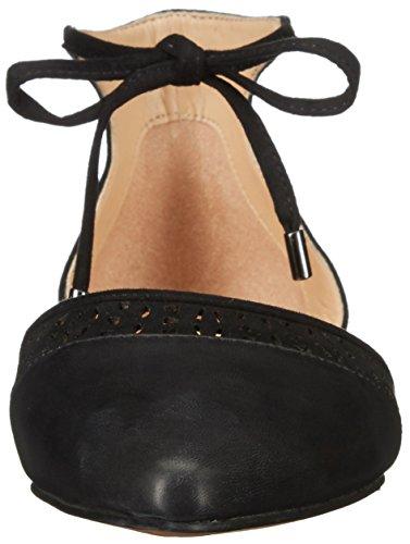 Franco Sarto Women's L-Shirley Ballet Flat, Black Leather, 10 M US Black