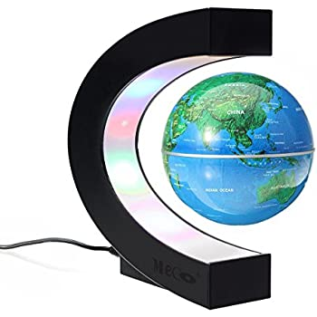 Amazon funny c shape decoration magnetic levitation floating meco 3 funny c shape magnetic levitation floating globe world map with colored led gumiabroncs Images