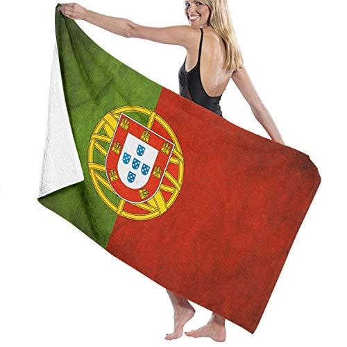 確かな不完全な軍ビーチバスタオル バスタオル ポルトガルの旗 ビーチバスタオル 海水浴 旅行用タオル 多用途 おしゃれ White