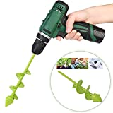 """Bulb Bedding Plant Auger, Garden Plant Flower Bulb Auger 3.15"""" x 9"""" Rapid Planter, Non-Slip Hex Drive fits Any 3/8-inch Drill. Size 8 * 22CM"""