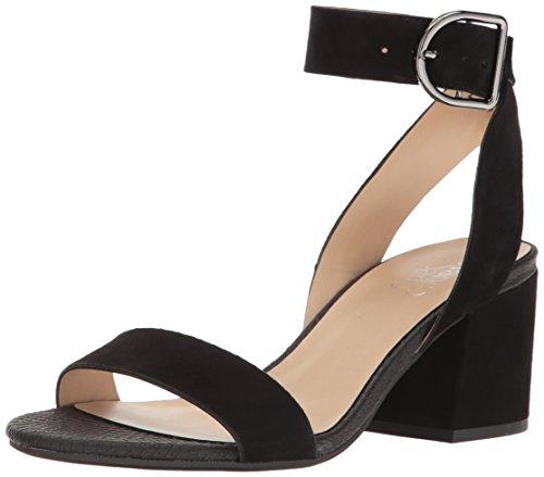 Franco Sarto Womens Marcy Heeled Sandal Black Suede afOY2l4