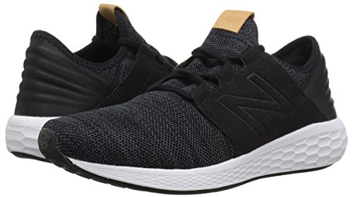 New Balance Men's Cruz V2 Fresh Foam Running Shoe, black/white, 7 D US by New Balance (Image #5)