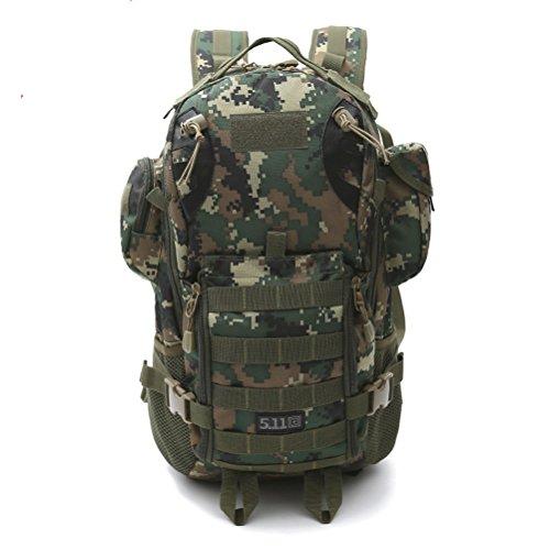 DuShow Militär-/Armee-Rucksack, Gepäck für Camping, Wandern, Sport, Outdoor, Klettern, Bergsteigen, Reise-Schultertasche, Trekking-Tasche Camouflage 3