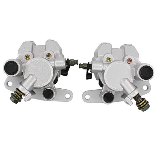 Pack of 2 Front Right & Left Brake Caliper w/Pads for Yamaha Grizzly Banshee 350 Bear Tracker Bear 250 400 Blaster 200 -