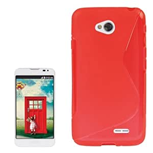 S Line Anti-skid Frosted TPU Case for LG L70 / Dual D325 (Red)
