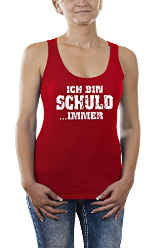 Touchlines Ich Bin Schuld .Immer, Tank Top para Mujer Rot (Red 08)