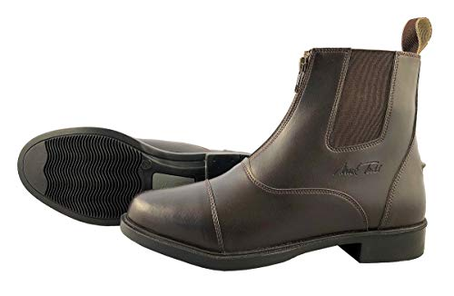 Todd Jodhpur Boots Synthetic marron Zip Mark Front 1ZIPqzd