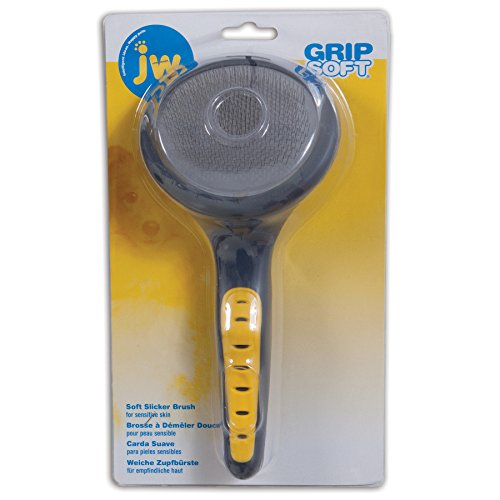 JW Pet Company GripSoft Slicker Brush Soft Pin Dog Brush